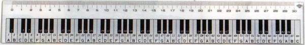 "Lineal ""Keyboard"" 30 cm"