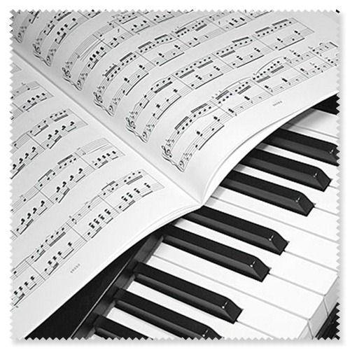 """Brillenputztuch mit """"Klavier/Notenblatt"""""""