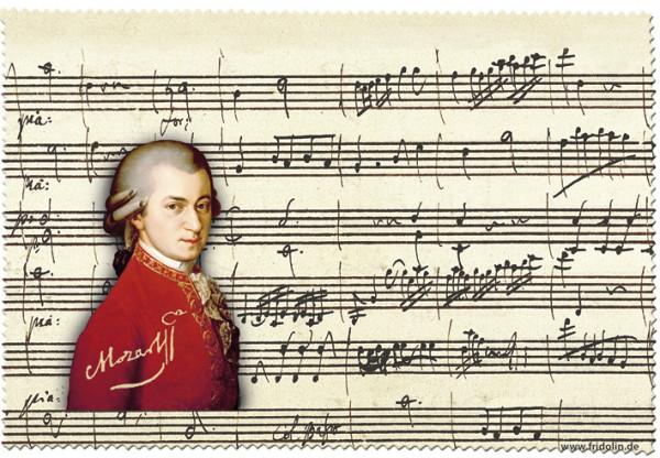 """Brillenputztuch mit Dekor """"Mozart"""""""