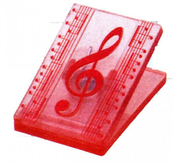 """Klammer """"Violinschlüssel"""" rot"""