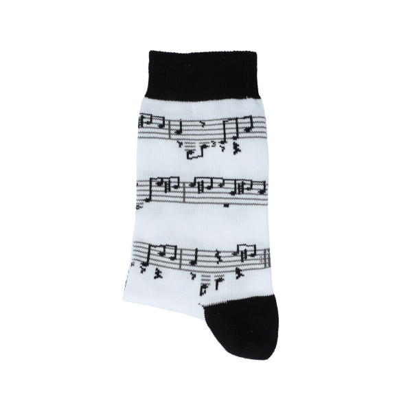 """Musiker-Socken """"Noten schwarz"""" - kleine Größen"""