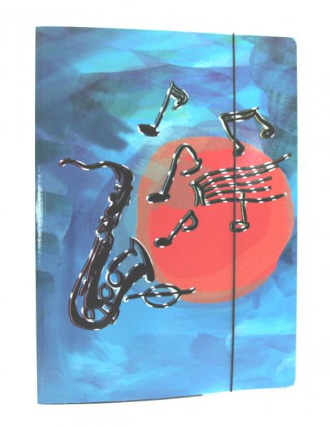 """Sammelmappe """"Saxophon"""" A4"""