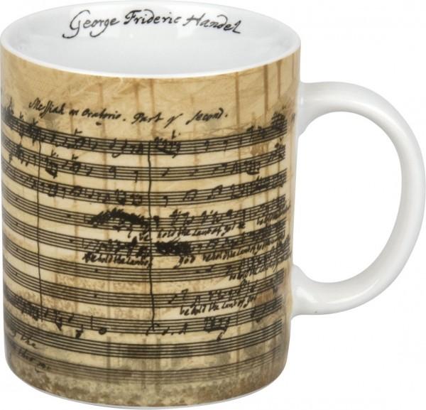 Porzellanbecher mit Facsimile von G. F. Händel