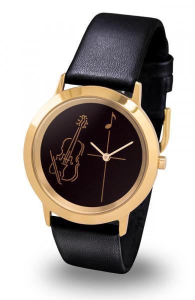 "Armbanduhr ""Geige"" - Gold Line"