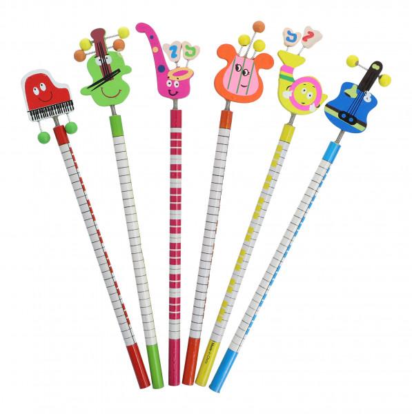 Bleistift mit Instrumentenmotiv