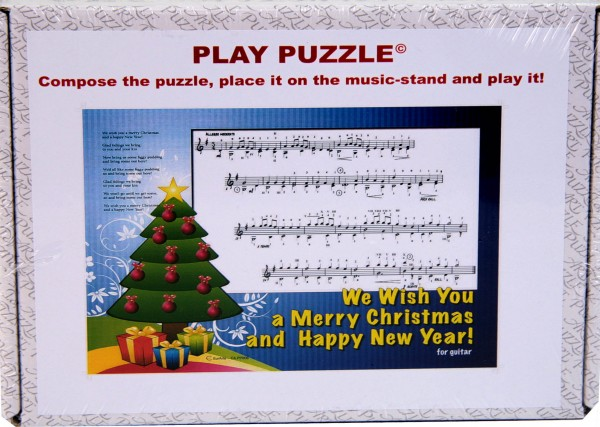 "Play-Puzzle ""We wish you ..."" for giutar"