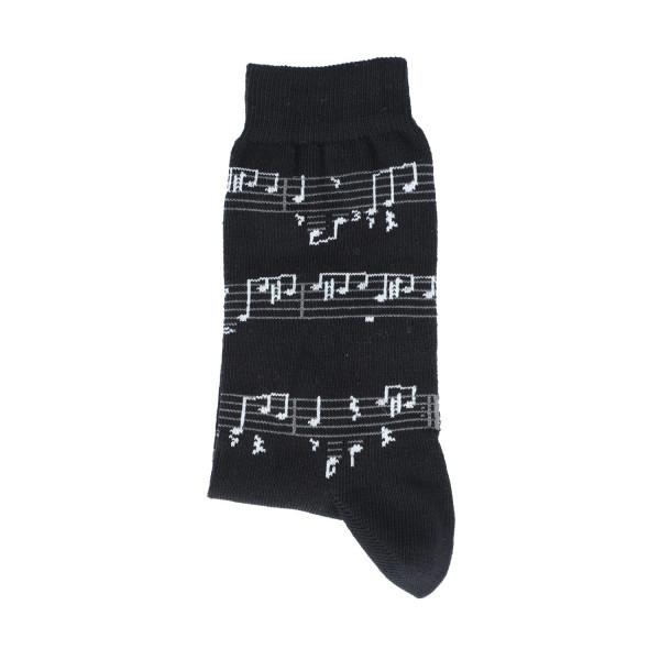 """Musiker-Socken """"Noten weiß"""""""