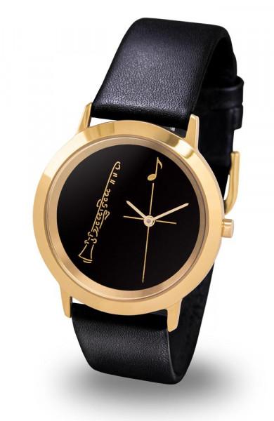 "Armbanduhr ""Klarinette"" - Gold Line"