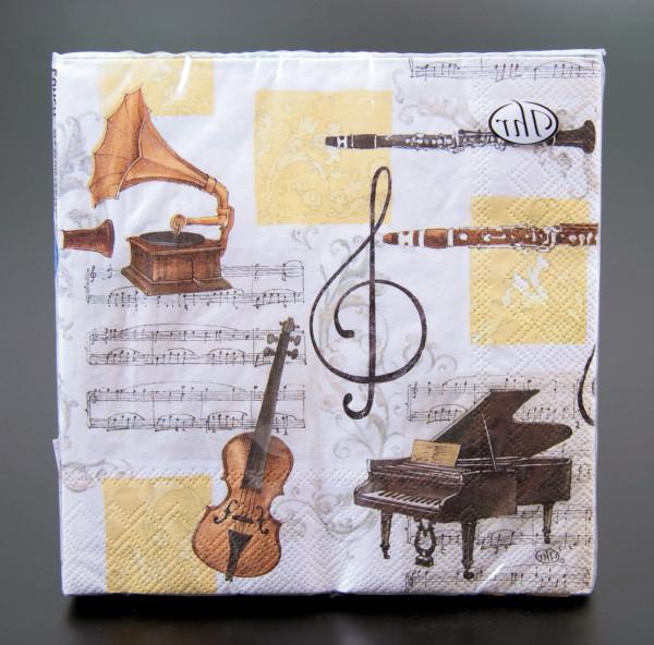 """Lunch Servietten """"Musikinstrumente"""""""