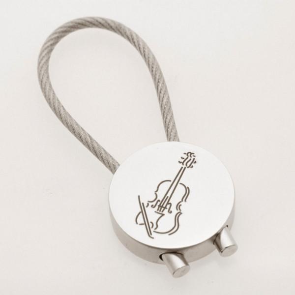 """Schlüsselanhänger """"Geige"""" rund"""