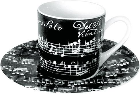 "Espressotasse ""Vivaldi Libretto"" - schwarz"