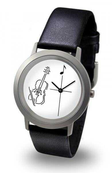 """Armbanduhr """"Geige"""" - Palladium Line"""