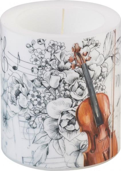 """Windlichtkerze """"Bella Musica"""""""
