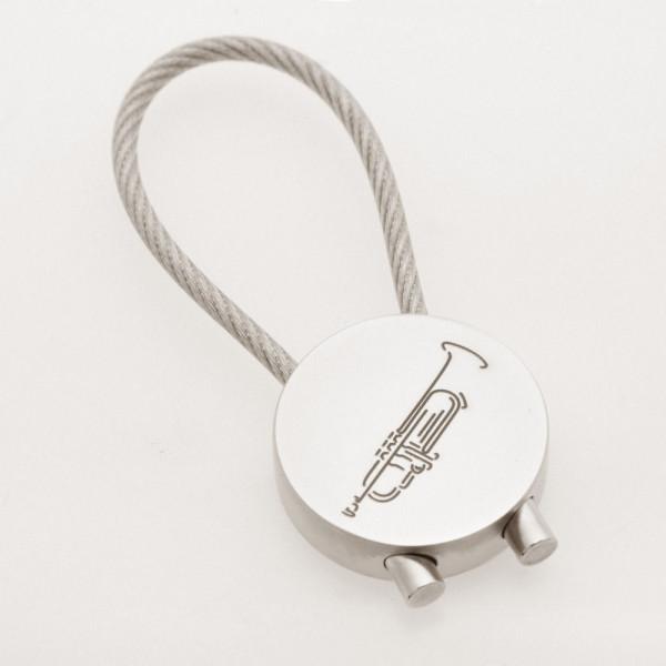 """Schlüsselanhänger """"Trompete"""" rund"""