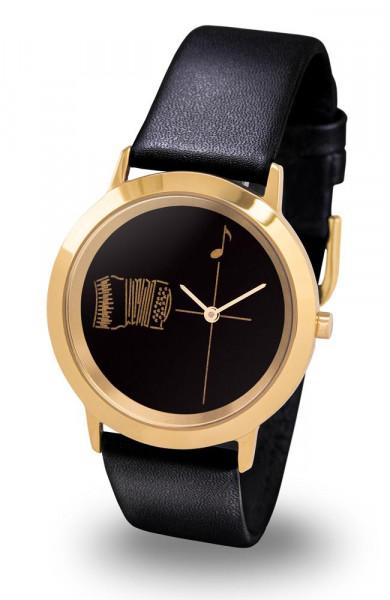 "Armbanduhr ""Akkordeon"" - Gold Line"