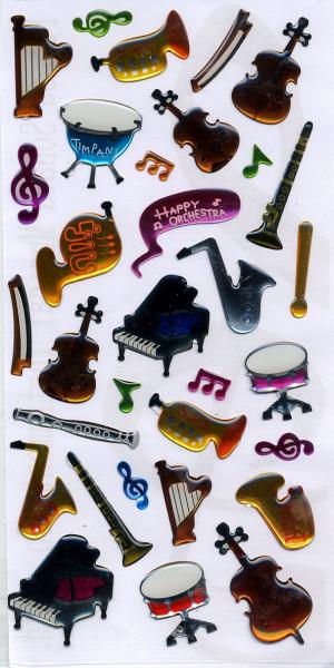 """Schmucketiketten """"Musikinstrumente & -symbole"""""""