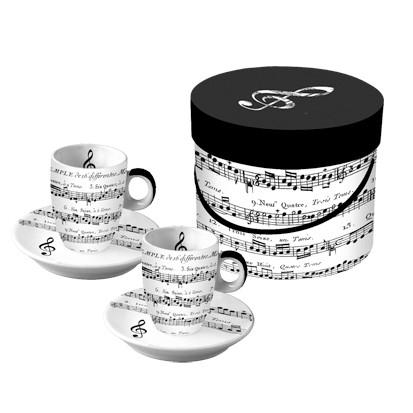 "Espressotassen ""Adagio"" in Geschenkbox"