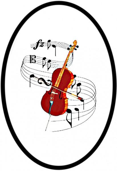 """Magnet mit Flaschenöffnerfunktion - Dekor """"Violine"""""""