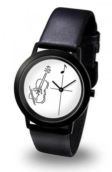 """Armbanduhr """"Geige"""" - Black Line"""