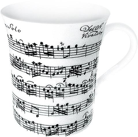 "Jumbo-Porzellanbecher ""Vivaldi Libretto"" - weiß"