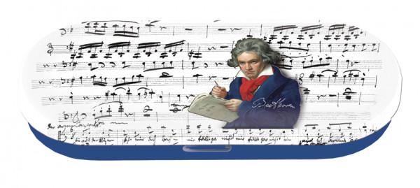 """Utensilien-/Brillenetui mit Dekor """"Beethoven"""""""