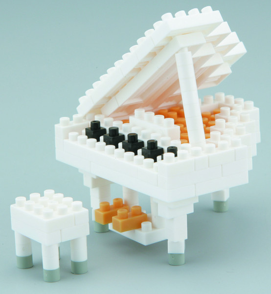 "NanoBlock Mini-Collection ""Grand Piano weiss"""