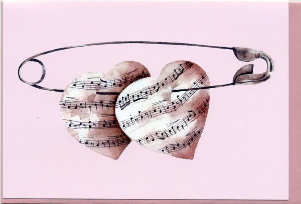 """Doppelkarte """"Verliebte Herzen"""""""