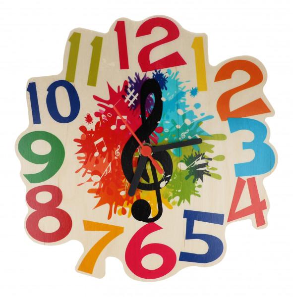 "Wanduhr ""Violinschlüssel"" für Kinder"