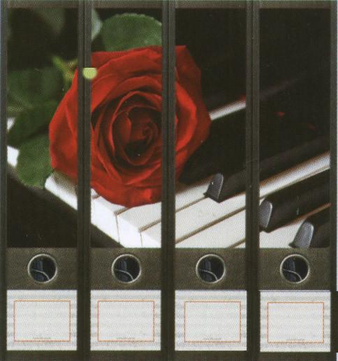 "Ordner-Etiketten ""Rose"""