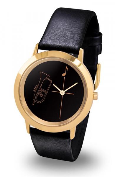 """Armbanduhr """"Flügelhorn"""" - Gold Line"""