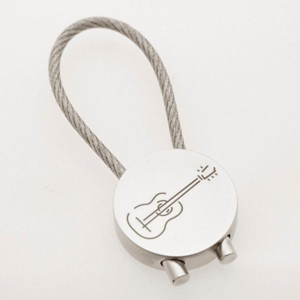 """Schlüsselanhänger """"Gitarre"""" rund"""
