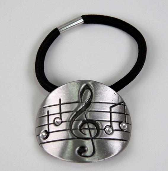 """Haarband """"Violinschlüssel"""" mit Swarovski-Steine"""