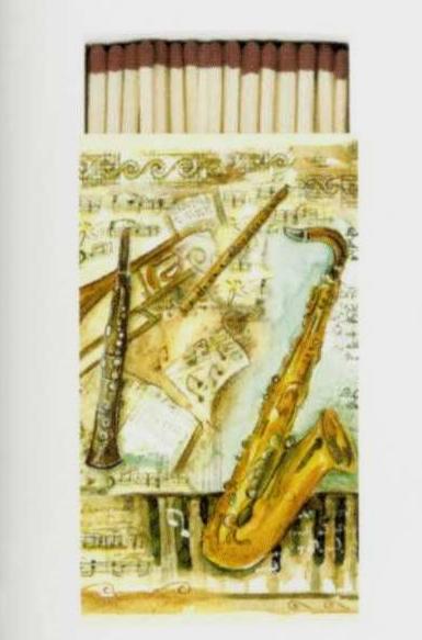 """Streichhölzer XXL """"Musical Instruments"""""""