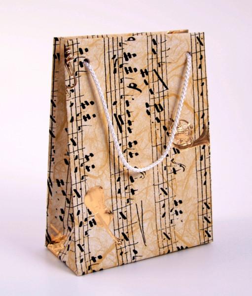 """Geschenktasche """"Instrumente mit Noten"""""""