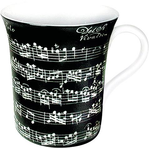"Jumbo-Porzellanbecher ""Vivaldi Libretto"" - schwarz"