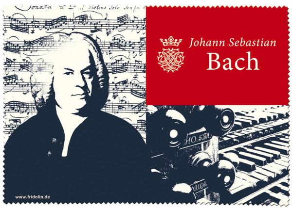 """Brillenputztuch mit Dekor """"Bach"""""""