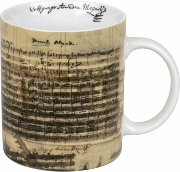 Porzellanbecher mit Facsimile von W. A. Mozart