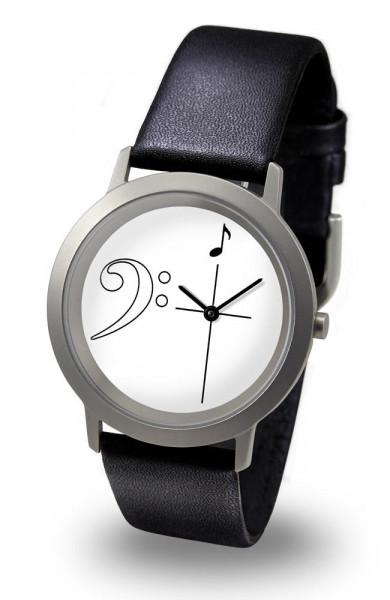 "Armbanduhr ""Bassschlüssel"" - Palladium Line"