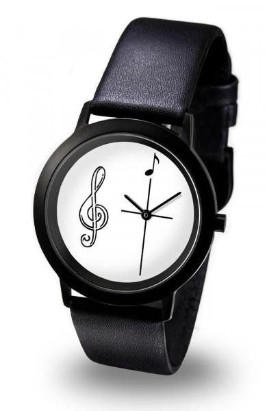 "Armbanduhr ""Violinschlüssel"" - Black Line"