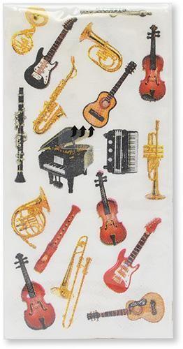 """Papiertaschentücher """"Instrumente"""""""