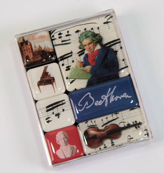 "Magnete mit Dekor ""Beethoven"""