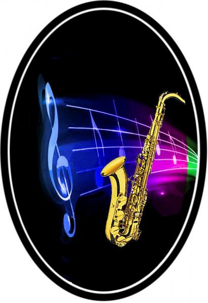"""Magnet mit Flaschenöffnerfunktion - Dekor """"Saxophon"""""""