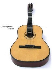 Miniatur-Akustikgitarre 24 cm