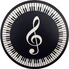 "Mousepad ""Violinschlüssel und Tastatur"""