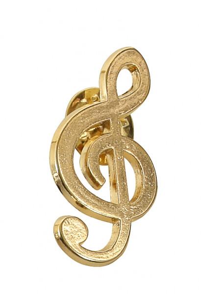 "Pin ""Violinschlüssel"" gold"