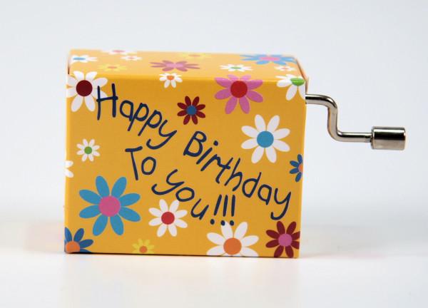 """Spieluhr Blüten """"Happy Birthday to you"""""""