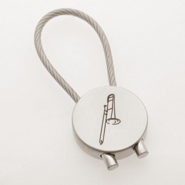"""Schlüsselanhänger """"Posaune"""" rund"""