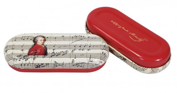 """Utensilien-/Brillenetui mit Dekor """"Mozart"""""""