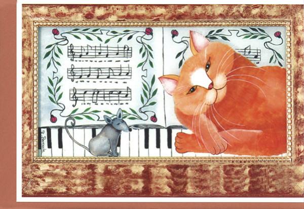 """Kunstkarte """"Juliettes Katzen VI"""""""