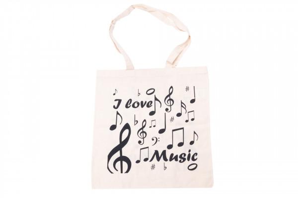 """Baumwolle-Tragetasche """"I love music"""""""